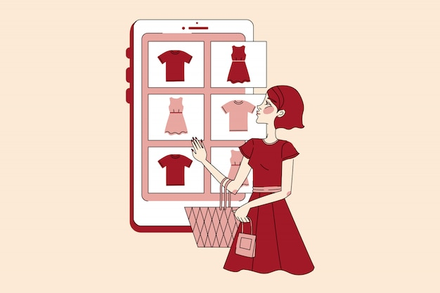 Online payment, technology, shopping, sale concept