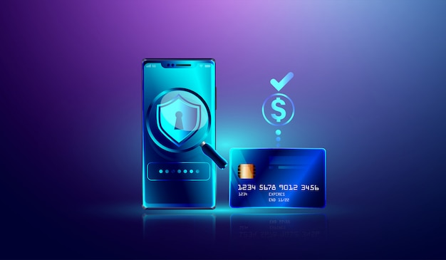Online payment via credit card protection on smartphone