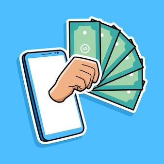 携帯電話の漫画の設計によるオンライン支払い