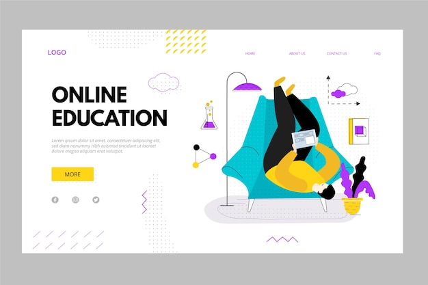 Online personal education landing page