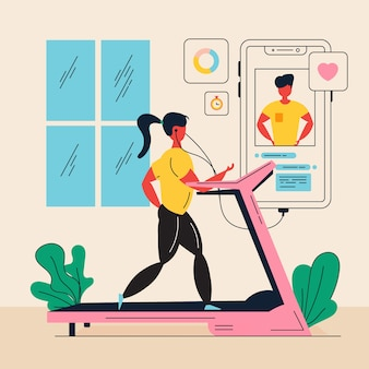 Online personal trainer concept