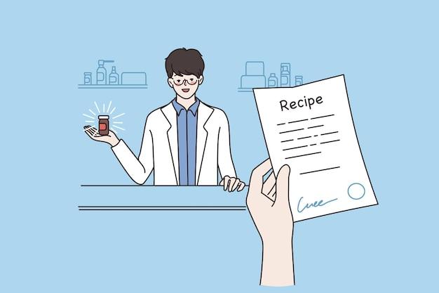 Online pharmacy or drugstore concept