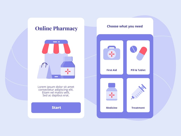 Online pharmacy first aid phill tablet medicine treatment