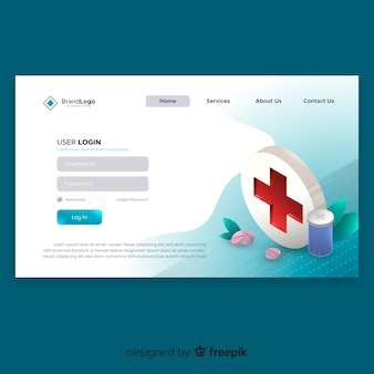 Online pharmacy landing page template