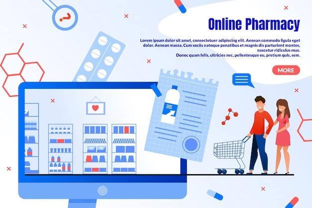 Online pharmacy shopping service  webpage
