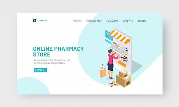 Online pharmacy store concept