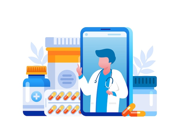 Online pharmacy with online consultation doctor
