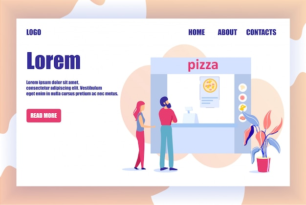 Online pizzeria landing page offers order pizza