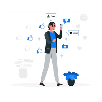Иллюстрация концепции онлайн-популярности