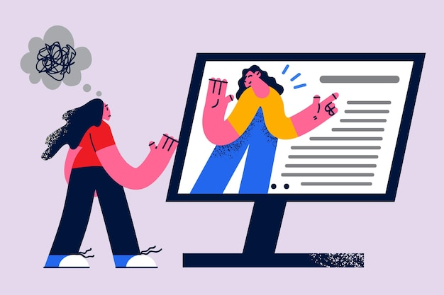 온라인 심리학 및 원격 지원 개념