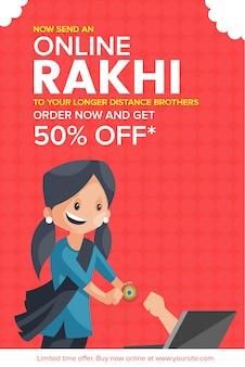 Online rakhi sale banner
