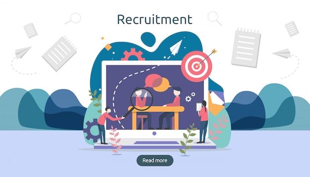 Online recruitment.