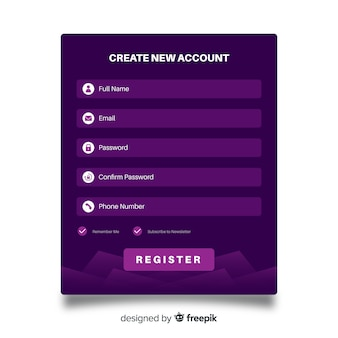 Online register form