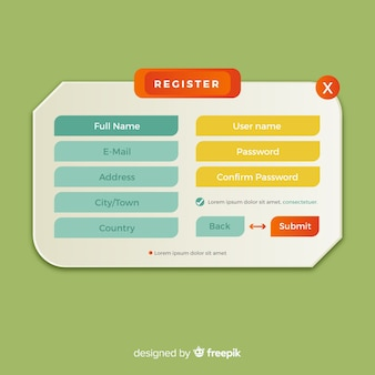 Регистрационная форма онлайн
