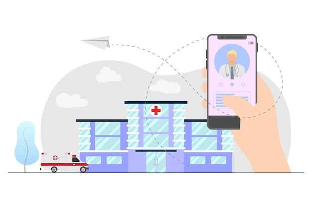 Online registration hospital concept