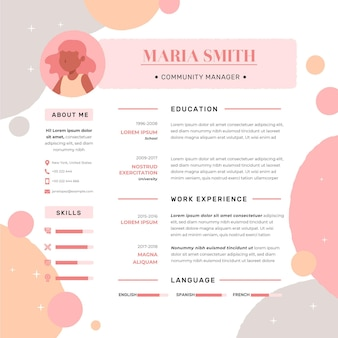Online resume template design