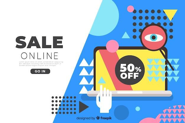 Online sale landing page templat