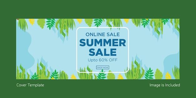 Online sale summer sale cover page design