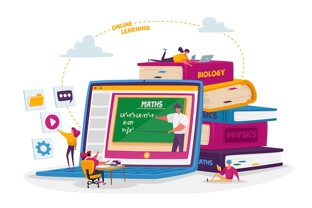 Online school education at home