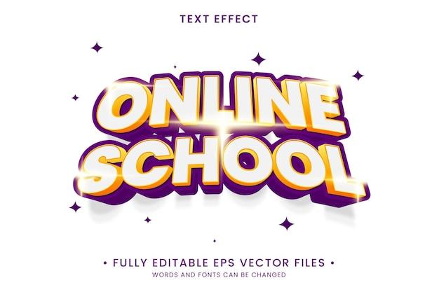Online school text effect