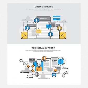 Online services designs Free Vector