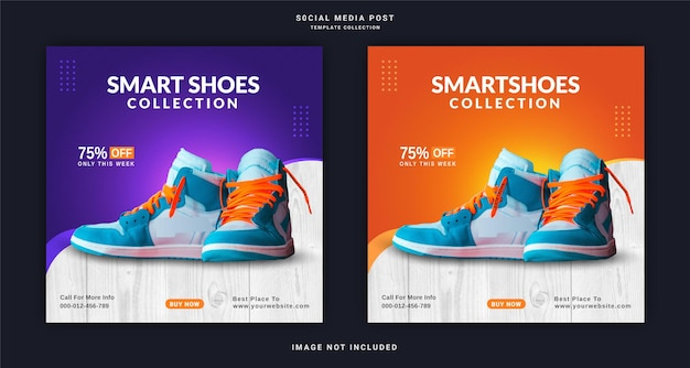 Интернет-магазин обуви instagram баннер реклама шаблон сообщения в социальных сетях