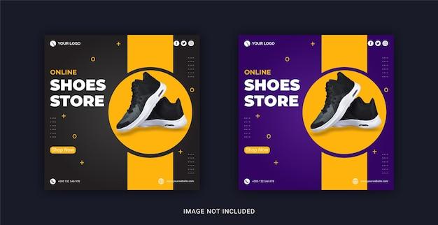 Online shoes store instagram banner social media post