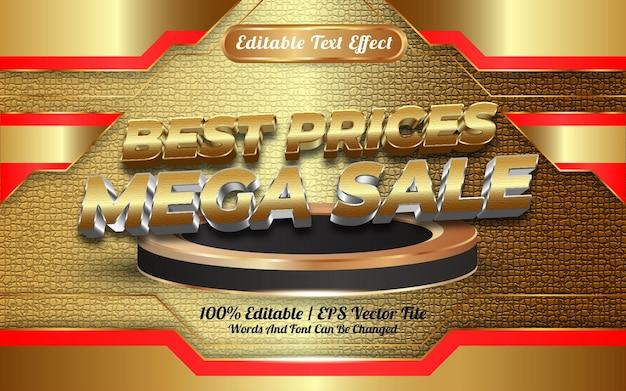 Интернет-магазин лучшие цены мега распродажа редактируемый текстовый эффект шаблон стиля особенный с новым годом 2022