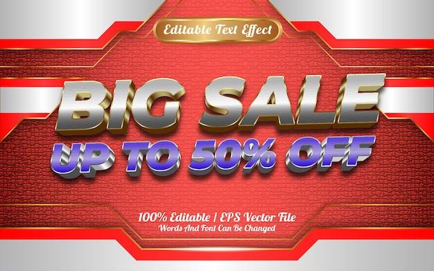 Интернет-магазин большая распродажа редактируемый текстовый эффект шаблон стиля особенный с новым годом 2022