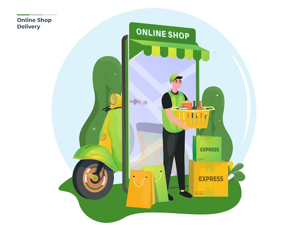 온라인 상점 배달 서비스 그림