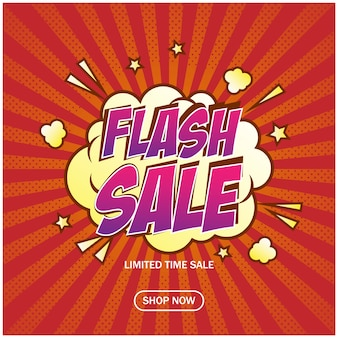 Online shop flash sale banner background template