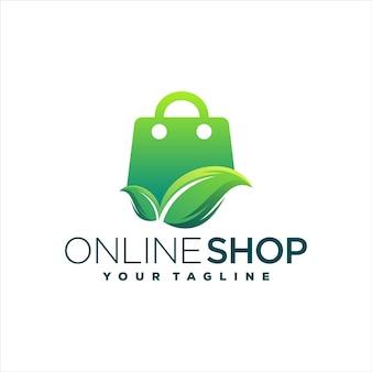 Интернет-магазин градиентный дизайн логотипа