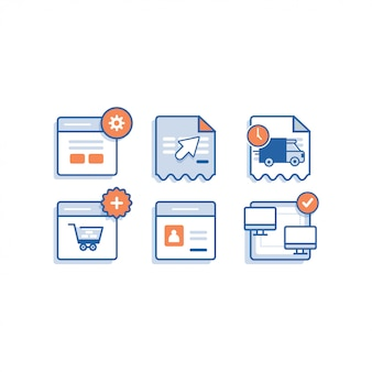Online shop icon apps
