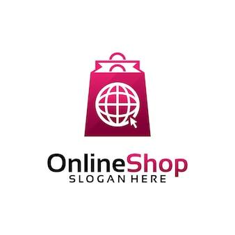 オンラインショップのロゴデザインテンプレート