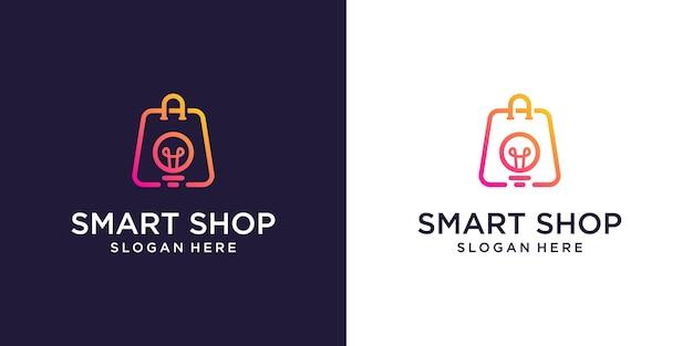 オンライン ショップのロゴ デザイン テンプレート