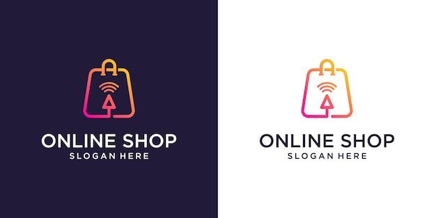 Online shop logo designs template