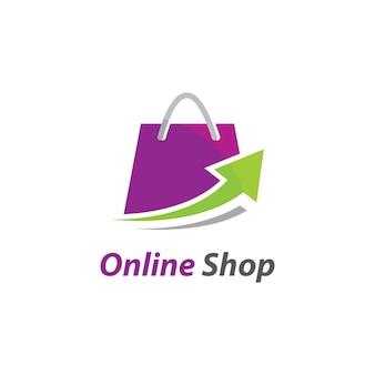 オンラインショップのロゴのテンプレートアイコン