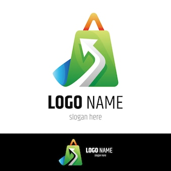 Online shop logo template ready for use