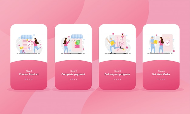 Online shop onboarding page for mobile phone