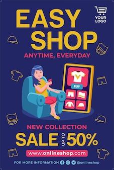 Online shop poster promotion