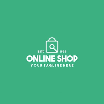 Online shop premium logo design template