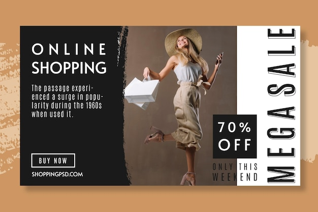 Online shopping 70% off banner template