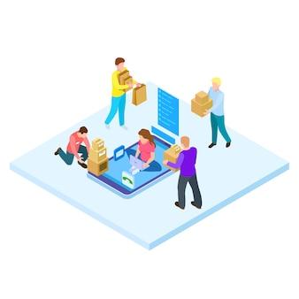 オンラインショッピングと宅配