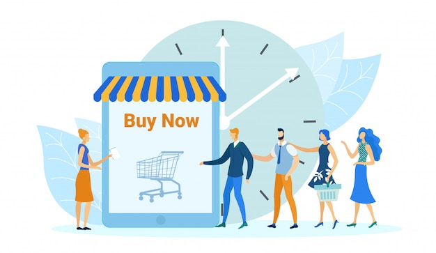 Online shopping application, buy now banner.
