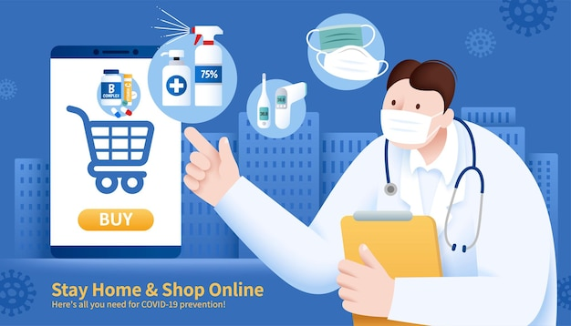 Online shopping to avoid covid-19