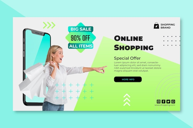 Online shopping banner template