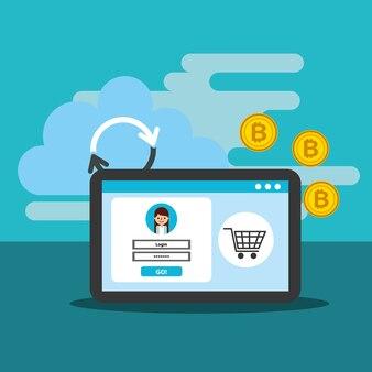 Интернет-магазин биткойн облако перезаряжать цифровой