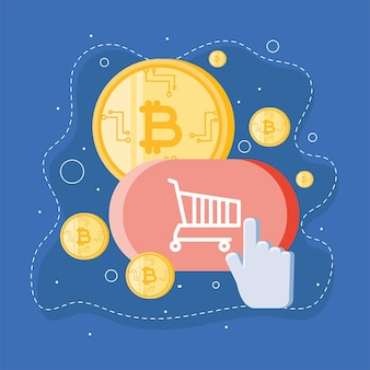 Online shopping bitcoins