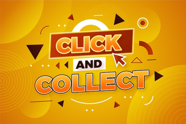 Online shopping click and collect sign
