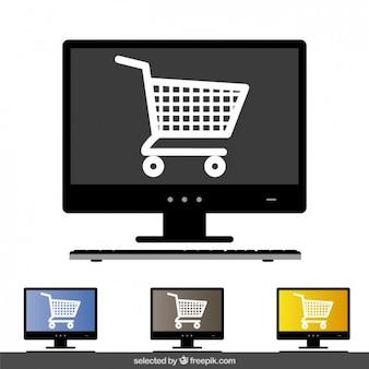 Concetto di shopping online a schermo del computer